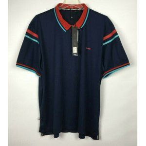 New  Paper Planes Navy Polo Shirt Size 4XL   NWT